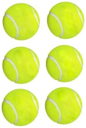 BALL,CRICKET BALL,TENNIS BALL,GREEN COLOR,PACK OF 6
