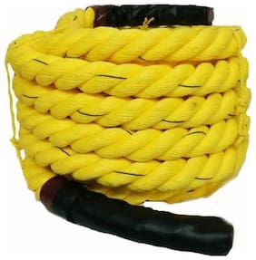 Battle Rope 32mm Thickness Exercise & Fitness Training Equipment Rope (Yellow, 100m - 32mm)
