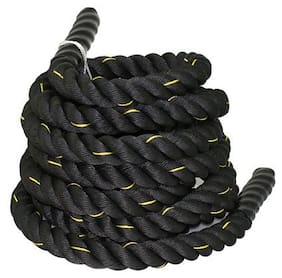 Battle Rope 38mm Thickness Exercise & Fitness Training Equipment Rope 20m - 38mm, Black