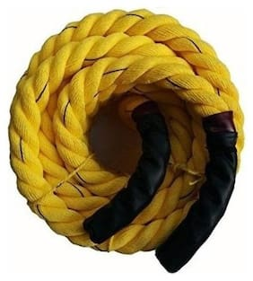 Battle Rope 32mm Thickness Exercise & Fitness Training Equipment Rope (Yellow) (5m - 32mm)