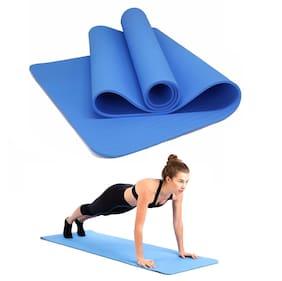 BAZAAR GALI Yoga Mat 4mm Thicken Exercise Mat Non-Slip Yoga Pilates Durable Workout Mat, 1Pc (Blue)