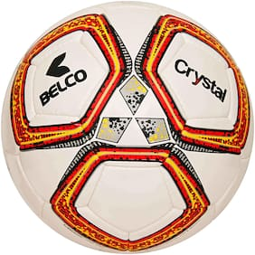 Belco Sports Orange Crystal 3Ply Synthetic Rubber 32 Panel Football Size 5