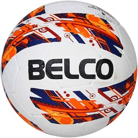 Belco Sports Red Cyclone Rubber Moulded Football Size 5