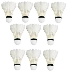 BEST QWALITY Badminton Shuttlecock White, Pack of 10