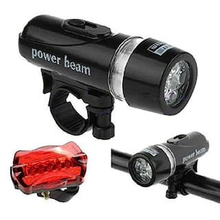 BG Bazzar Gali Waterproof Bright 5 Led Bike Bicycle Head & Rear Lights (5 LED Bulb each in Head/Tail Light)