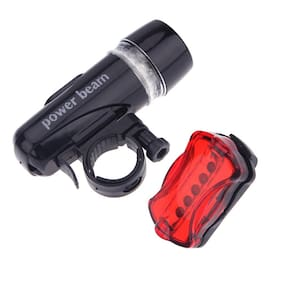 BG Bazzar Gali Combo of Bicycle Head and Light Rear Light Set (5 LED Bulb each in Head/Tail Light)