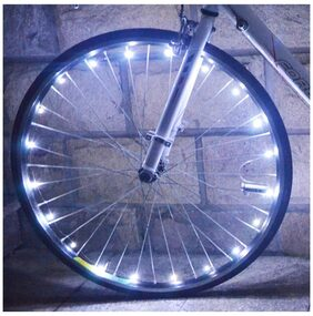 Bicycle Cycling Colorful Cool 20 LEDs Safety Spoke Wheel Light Bike Accessories # International Bazaar