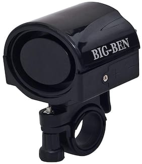 Big-Ben Bicycle Bike Siren Horn Loud Handlebar Alarm Bell Ring for Bicycle (Black)