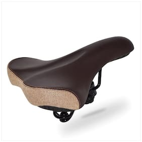 Big Ben Spin Oversized /Comfortable  -Universal Bicycle Saddle - Waterproof Leather Bicycle Seat with Extra Padded Memory Foam - Bicycle Seat for Men/Women... (Brown)...