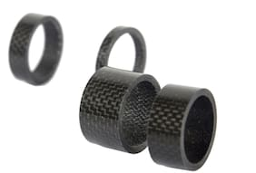 Black Carbon Spacer 5/10/15/20mm Set For Stem Bicycle Bike Headset Spacer