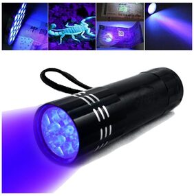 Black Mini Aluminum Led Flashlight Torch Light Lamp