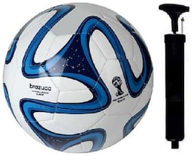 BLUE BRAZUCA FOOTBALL WITH PUMP COMBO