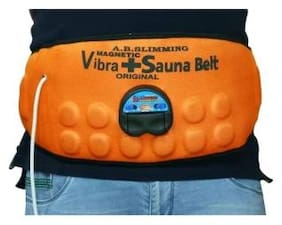 Body Slimmer Magnetic Vibra Plus Sauna Belt Vibrating Magnetic Slimming Belt  (Orange Color) Pack of 1