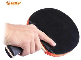 BOER S5 Table Tennis Rackets Pimples-in Rubber Bat for Fast Attack Type Player # International Bazaar