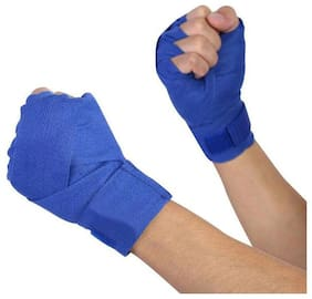Boxing Hand Wrap,  Wrist Support, Hand Wraps (Pair, Blue)