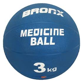 Bronx Rubber Medicine Ball  3 kg in Blue Colour