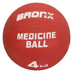 Bronx Rubber Medicine Ball  4 kg in Red Colour