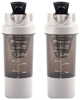 Buy 1 Get 1 Free Shaker 500ml with Tablet & Powder Storage ( Assorted Colors )