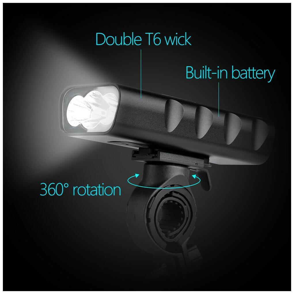 BX3 Bike Light Flashlight Night Riding Super Bright Headlights USB Rechargeable