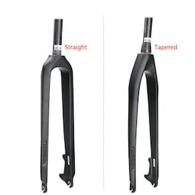 "Carbon Fiber 3K MTB Fork 1-1/8"" Straight/Tapered Disc Brake Mountain Bike Forks"