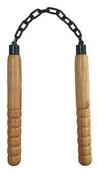 CASHWIN Wooden Handle 10-inch Metal Chain Pack of 1