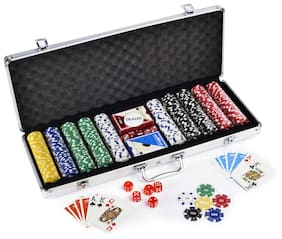 Casinoite 500 Pcs Diced Poker Chip Set With Denomination Toy