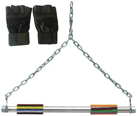 Chain Height Hangging Rod with Gym Gloves