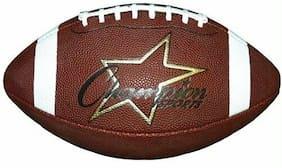"Champion Sports CF300 Pro Composite Football, Junior Size, 20.75"", Brown"