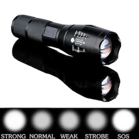 Cheap 10000LM LED Flashlight Focus Torch Zoom Lamp Light for 18650 Black