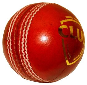 Club 4 Pc Leather Cricket Ball - Pack Of 3