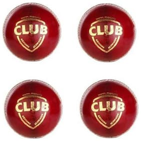 CLUB CRICKET LEATHER BALL [PACK OF 4]