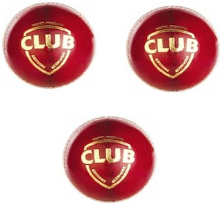 CLUB CRICKET LEATHER BALL [PACK OF 3]