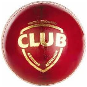 Club Leather Cricket Ball, Pack of 1 (Red)