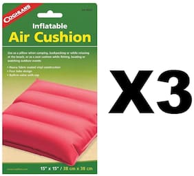 Coghlan's Inflatable Air Cushion Fabric Coated Vinyl Pad Assorted Colors(3-Pack)