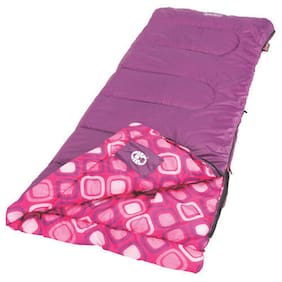 Coleman 66 in. x 26 in. Youth Girls Rectangular Sleeping Bag w/ Thermolock