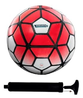 Combo of Barclays Red/White Football (Size-5) with Air Pump & Needle