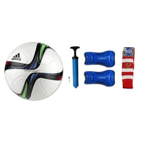 Combo of Football (Adidas Conext15 REPLICA) with Air Pump, Pair of Soccer Socks & Shin Guard
