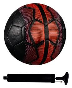 Combo of Mercurial Black/Red Football (Size-5) with Air Pump & Needle