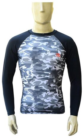 Compression Full Sleeve Skyn T-Shirt in Camouflage Design