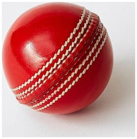 Cos theta Leather Cricket Ball Red Pack of 2