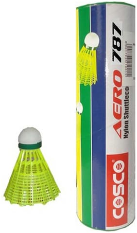 Cosco Aero 787 Nylon Shuttle-Yellow (Pack of 6)