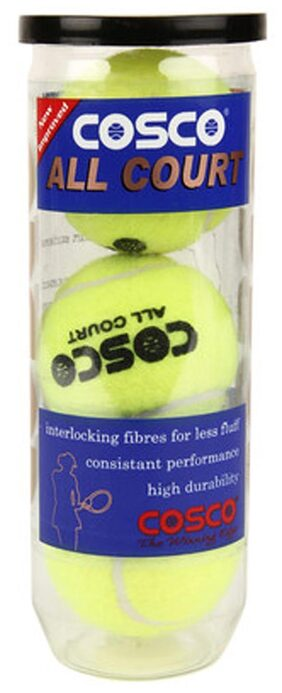 Cosco All Court Tennis Ball (Pack Of 3)