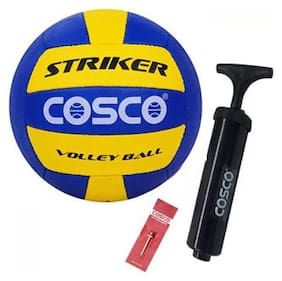 Cosco combo pack 3, STRIKER Volleyball with pump Volleyball - size 4