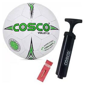 Cosco combo pack 3, Volley-32 | Volleyball with pump Volleyball - size 4