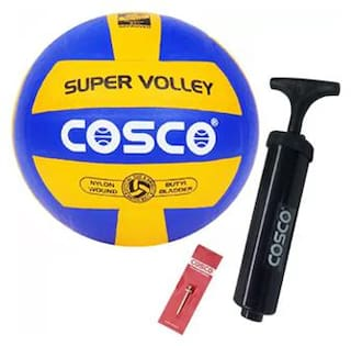Cosco combo pack 3, Super Volleyball with pump Volleyball - size 4