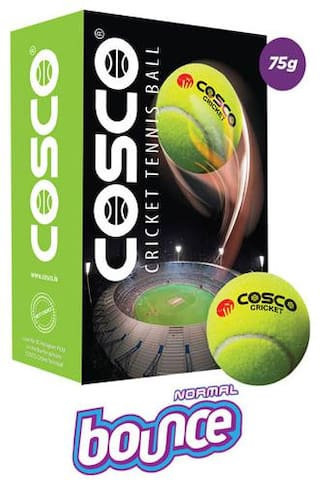 COSCO CRICKET CRICKET TENNIS BALL (PACK OF 6 BALLS)