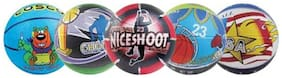 Cosco Multi Graphics Basketball-Assorted (Size-3)