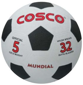 Cosco Mundial Football-Black And White (Size-5)
