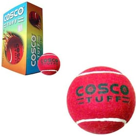 Cosco Tuff Cricket Ball-Red (Pack of 6)