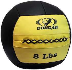 Cougar Max Medicine Ball 8 Lbs in yellowColour